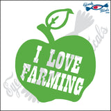 "APPLE WITH i LOVE FARMERS 5"" DECAL"