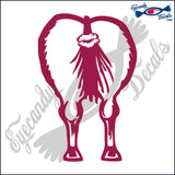 "DONKEY ASS WITH LIPS  6""  DECAL"