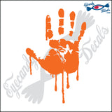 "BLOODY LEFT HAND 6"" DECAL"