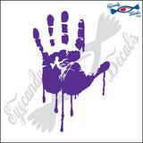 "BLOODY RIGHT HAND 6"" DECAL"