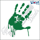 "BLOODY  RIGHT HAND TILTED 6"" DECAL"