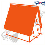 BIRD HOUSE 6 INCH  DECAL