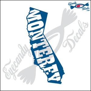 MONTEREY within CALIFORNIA 6 INCH  DECAL