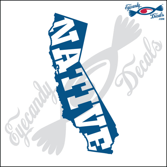 NATIVE within CALIFORNIA 6 INCH  DECAL