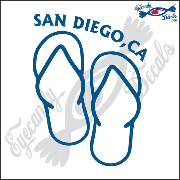 CALIFORNIA GIRL OVER SANDALS 6 INCH  DECAL