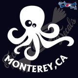 OCTOPUS with MONTEREY CALIFORNIA 6 INCH  DECAL