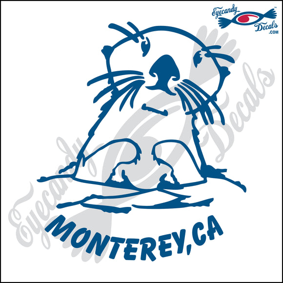 OTTER with MONTEREY CALIFORNIA 6 INCH  DECAL