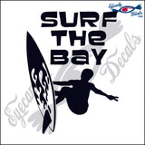 SURF THE BAY CALIFORNIA 6 INCH  DECAL