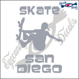 SKATE SAN DIEGO CALIFORNIA 6 INCH  DECAL