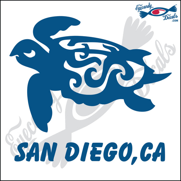 TURTLE with SAN DIEGO CALIFORNIA 6 INCH  DECAL