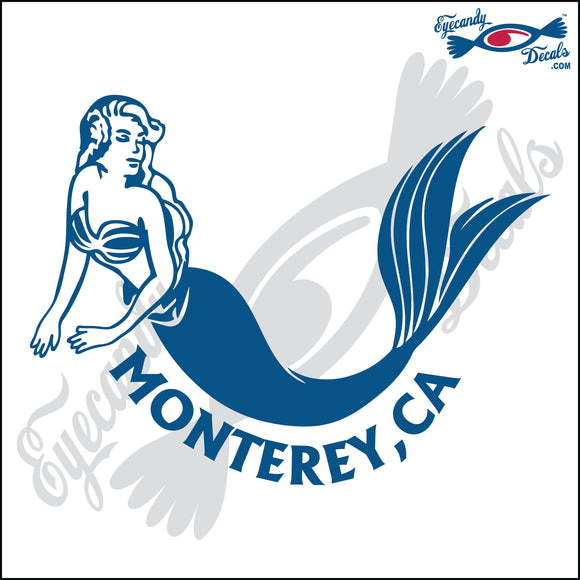 MERMAID with MONTEREY BAY CALIFORNIA 6 INCH  DECAL