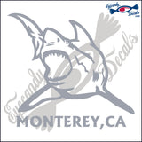 SHARK with MONTEREY BAY CALIFORNIA 6 INCH  DECAL