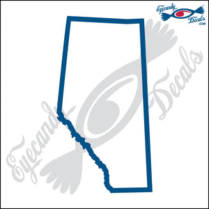 "CANADA ALBERTA OUTLINE  6""  DECAL"