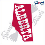 CANADA ALBERTA SHAPE with ALBERTA text 6 INCH  DECAL