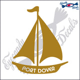 "CANADA SAILBOAT WITH PORT DOVER  5""  DECAL"