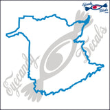 "CANADA NEW BRUNSWICK OUTLINE  5""  DECAL"