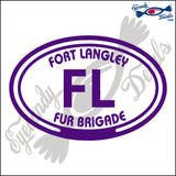 CANADA FORT LANGLEY FUR BRIGADE IN OVAL INCH  DECAL