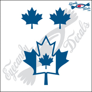 "CANADA MAPLE LEAF WITHIN MAPLE LEAF  4""  DECAL plus 2 small"