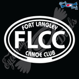 FORT LANGLEY FUR BRIGADE IN OVAL 5 INCH  DECAL