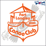 CANADA FORT LANGLEY FUR BRIGADE IN CANOE 6 INCH  DECAL