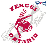 CANADA BAGPIPES WITH FERGUS ONTARIO 6 INCH  DECAL