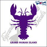 CANADA LOBSTER WITH GRAND MANAN ISLAND 6 INCH  DECAL