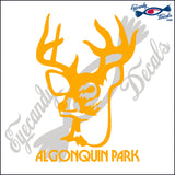 CANADA DEER WITH ALGOQUIN PARK 6 INCH  DECAL