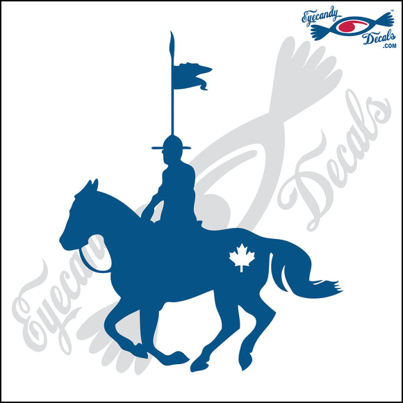 CANADA MAPLE LEAF with MOUNTY and HORSE 6 INCH  DECAL