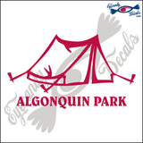 CANADA TENT WITH ALGONQUIN PARK 6 INCH  DECAL