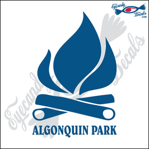 CANADA CAMPFIRE WITH ALGONQUIN PARK 6 INCH  DECAL