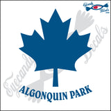 CANADA MAPLE LEAF WITH ALGONQUIN PARK 6 INCH  DECAL