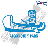 CANADA MAN IN CANOE WITH ALGONQUIN PARK 6 INCH  DECAL