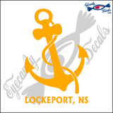 CANADA NAVY ANCHOR WITH LOCKPORT NOVA SCOTIA 6 INCH  DECAL