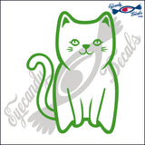 CAT SITTING UP CUTE 6 INCH  DECAL