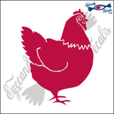 "CHICKEN BIRD   5""  DECAL"