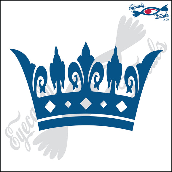 FANCY CROWN 6 INCH  DECAL