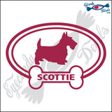 "DOG BONE EURO WITH SCOTTIE  5"" DECAL"