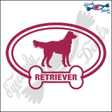 "DOG BONE EURO WITH RETRIEVER  5"" DECAL"