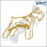 "SCHNAUZER DOG STANDING  5"" DECAL"