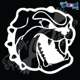 "BULLDOG DOG HEAD  5"" DECAL"