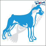 "BOXER DOG STANDING  5"" DECAL"
