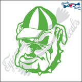 "BULLDOG WITH CAP DOG HEAD  5"" DECAL"