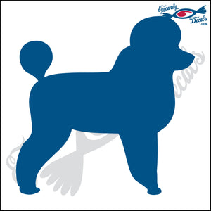"POODLE DOG STANDING  5"" DECAL"