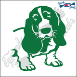 "BASSETT HOUND DOG HEAD  5"" DECAL"