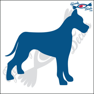 "GREAT DANE DOG STANDING  5"" DECAL"