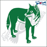 "WOLF DOG STANDING  5"" DECAL"