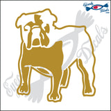"BULLDOG DOG STANDING  5"" DECAL"
