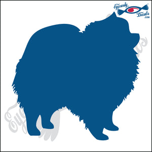 "POMERANIAN DOG STANDING  5"" DECAL"