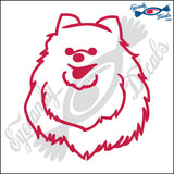 "POMERANIAN DOG HEAD  5"" DECAL"