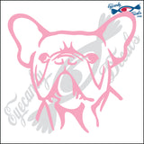 "FRENCH BULLDOG DOG HEAD  5"" DECAL"